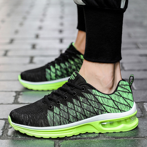 2020 summer new men's casual shoes trend breathable student running shoes Korean version of flying woven sports men's shoes