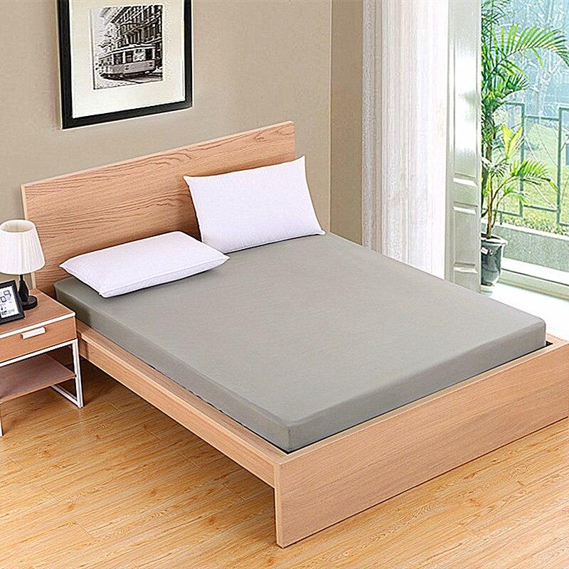 Protector de colchón resistente al agua sólido con banda elástica lija transpirable Funda de colchón antiácaros lavable