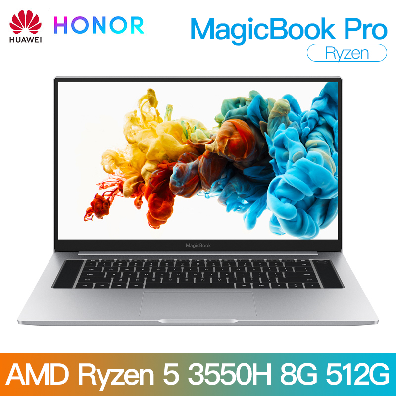 Honor Laptop Notebook Computer HUAWEI R5 3550h Amd Ryzen IPS 8GB Pro SSD Ram/512g SSD/16.1'' title=