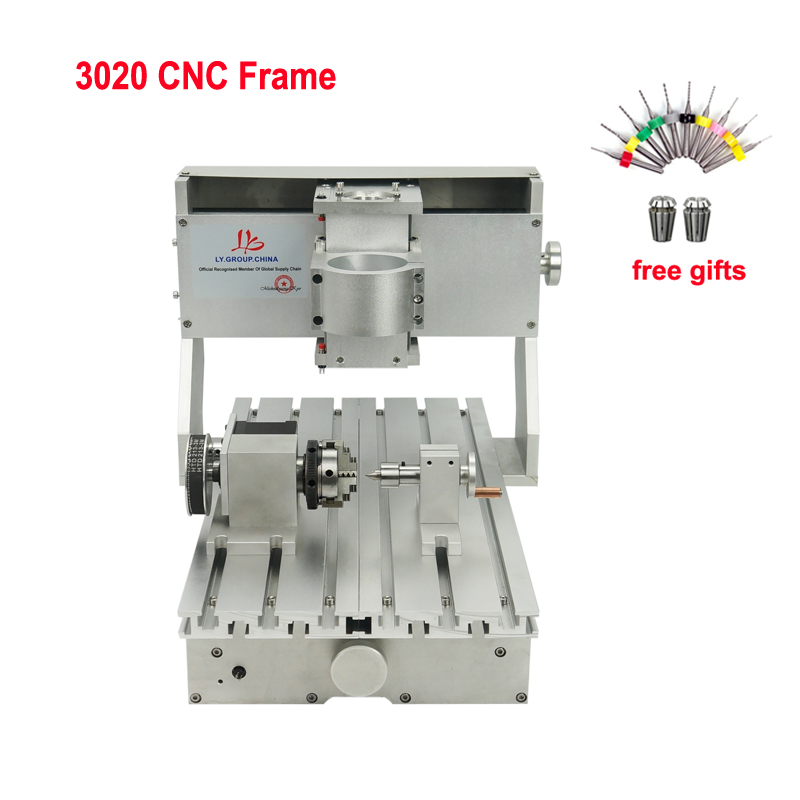 3020 CNC frame Kit 3 4 axis 65mm Spindle motor ball screw for Drilling and Milling Machine|Wood Routers| |  - title=