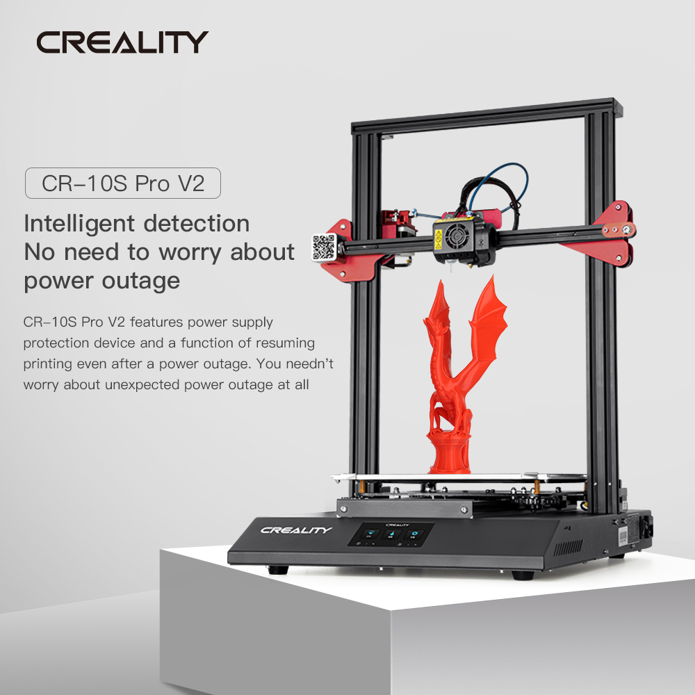 CREALITY 3D Printer CR-10S Pro V2 with BL Touch Auto-Level Touch Screen with Capricorn PTFE