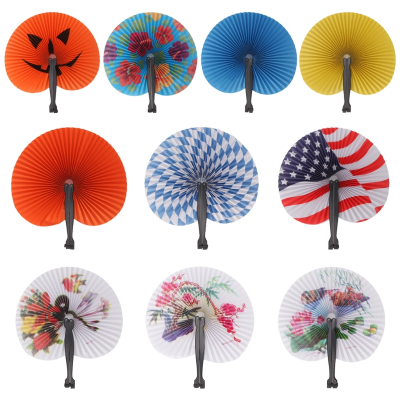 Paper Hand Held Foldable Paper Fan For Children Themed Party Decoration Portable Fan For Home Decoration