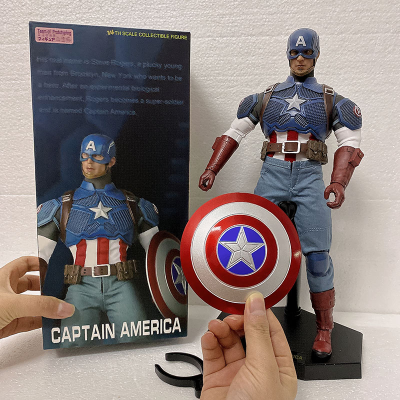 Crazy Toys Captain America 1/6 Action Figure Team Of Prototyping Captain American Crazy Toys Action Figures Model Toy