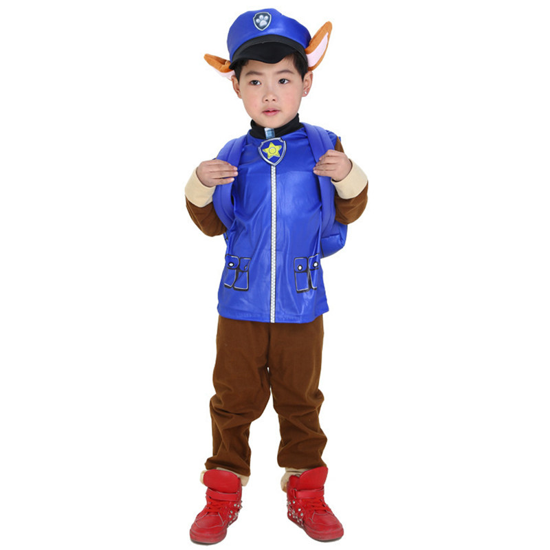 24Hours Ship Kids Carnival Costume Children Marshall Chase Cosplay Costume Boys Girls Birthday Christmas Party