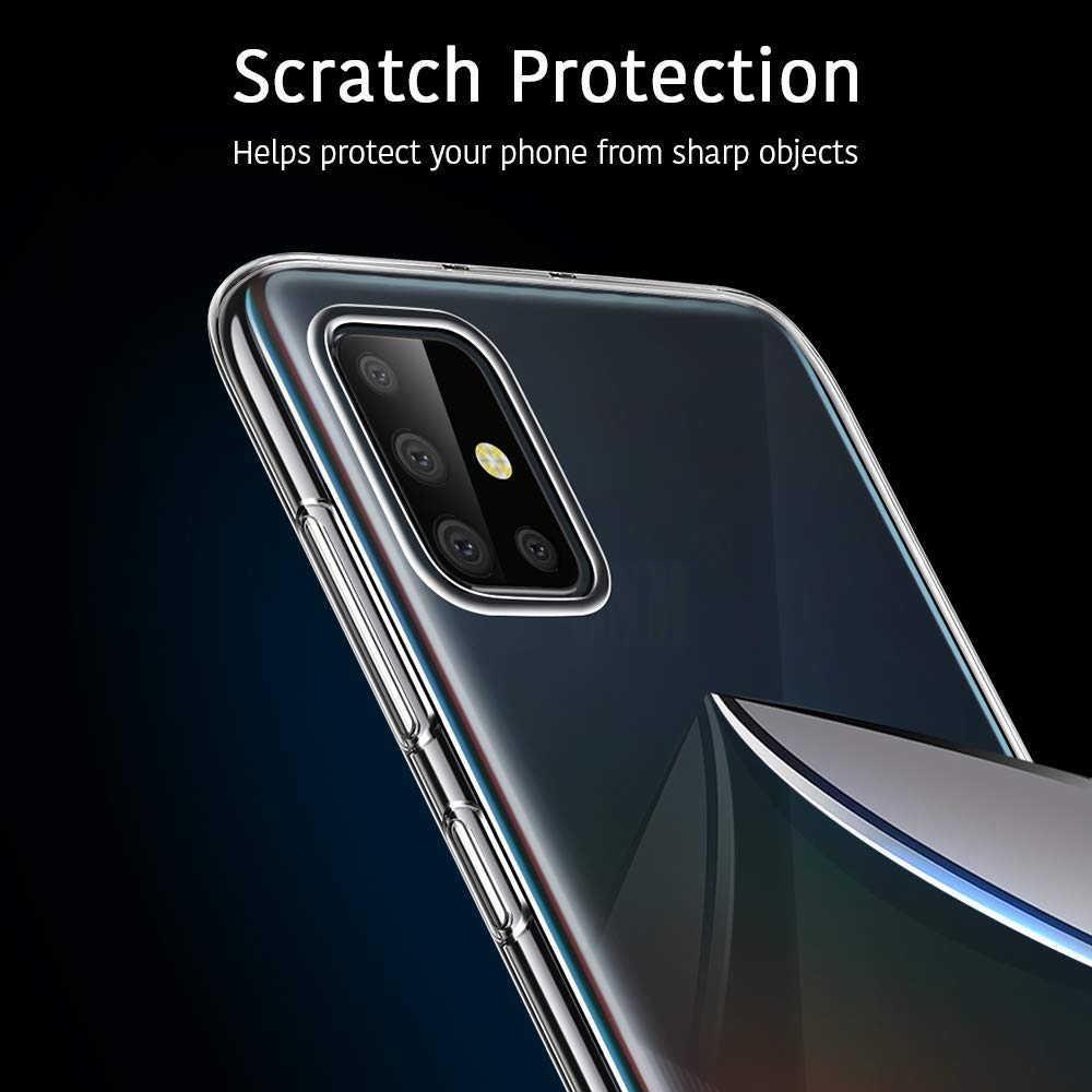 Fall Für Samsung Galaxy A51 TPU Silicon Klar Ausgestattet Bumper Soft Case für Samsung Galaxy A51 A71 EINE 51 71 2019 zurück Abdeckung