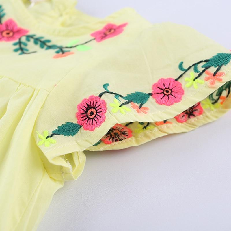2021 New Summer Baby Girls Princess Dress Embroidered Flower Elegant Wedding Party Dresses Toddler Girls Dress Kids Clothing 4