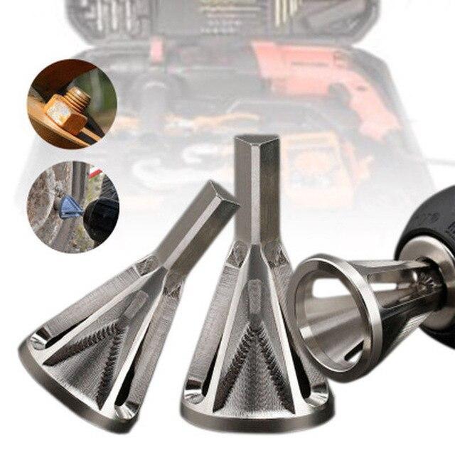 Narzędzie do usuwania zadziorów ze stali nierdzewnej narzędzie do zewnętrznego fazowania wiertła usuń Burr srebrne akcesoria narzędzia ręczne obróbka drewna #5