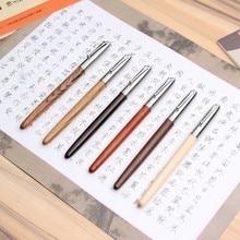 Madeira remasterizado clássico madeira caneta fonte 0.38mm extra fino nib caligrafia canetas jinhao 51a artigos de papelaria material escolar de escritório