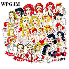 50Pcs Classics Bomb Beautiful Girl Sticker Scrapbooking Stickers for Luggage Laptop Notebook Car Motorcycle Toy Phone