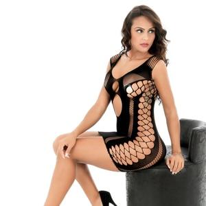 Image 4 - Robe érotique pour femmes, Lingerie Sexy, dos nu, dentelle, Perspective, Costumes de poupée Porno
