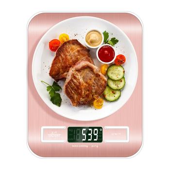 15Kg 10kg 5kg 1g cyfrowa kuchenna skala żywności dieta wagi szczupła stal nierdzewna Steelyard bilans wagowy dla biżuterii 40 zniżki tanie i dobre opinie JUANJUAN NONE CN (pochodzenie) Pocket scale AAA battery normal LCD display