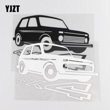 Yjzt 17 × 11.6cm 4x4 personalidade palavra decoração vinil criativo adesivo de carro decalque preto/prata 4c-0474