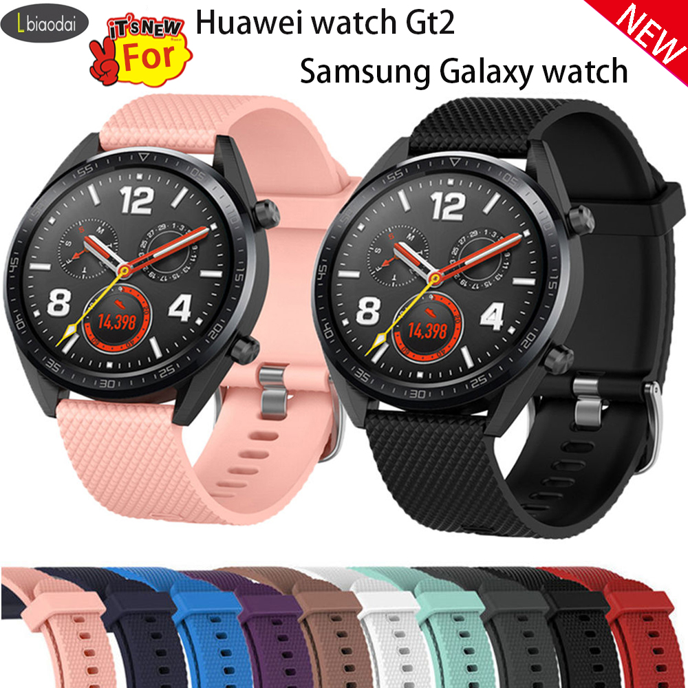 22mm Watch Band For Samsung Galaxy Watch Huawei Watch Gt2 Strap 46mm Gear S3 Frontier Band Amazfit Bip Strap Silicone Bracelet