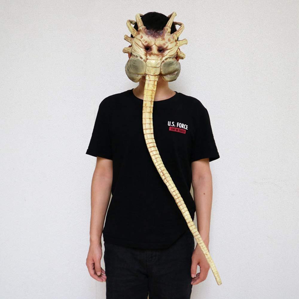 Máscara de Alien Facehugger, disfraz de Xenomorph Hugger, accesorio de Halloween, garras de látex aterradoras, insectos - 5