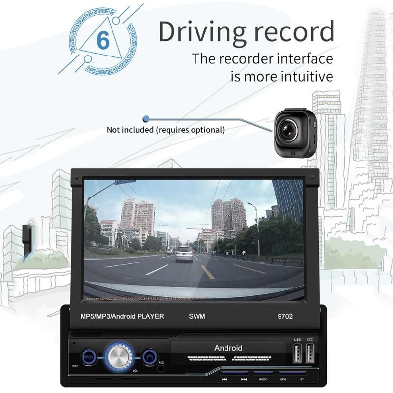 GPS Skillful Manufacture Superior Quality MP5 Player 9702 Android 8.1 7 inch Car In-dash Stereo Audio Mirror Link image