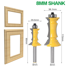 цена на 1pc 8mm Shank 1-1/2 Miter Frame Molding Router Bit Line Drawer Cabinet Door Knife Tenon Cutter For Woodworking Tools Drill Bits