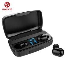 Auriculares T16 TWS inalámbricos por Bluetooth, auriculares Mini deportivos impermeables con pantalla LED y control táctil para Xiaomi y iPhone