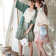 Hanfu traje vestido de las mujeres mejor Hanfu diario de manga corta diaria Cosplay Hanfu trajes Han elementos estudiante 2021