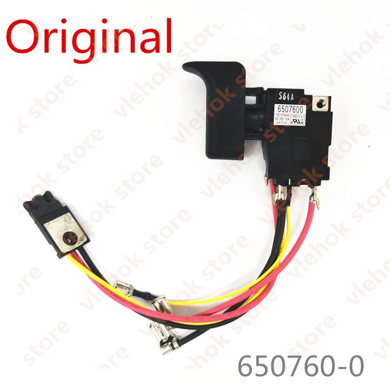 Switch For Makita XRJ04 DJR186 JR186D 6507600 650760-0 Power Tool Accessories Electric Tools Part