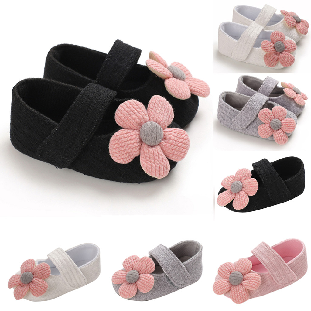 Baby Shoes Winter Baby Girl Shoes Comfortable Mixed Colors Flower Novelty First Walkers Kid Shoes Anti-slip Prewalker Sneakers