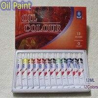 Marca profissional pintura a óleo da lona pigmento arte suprimentos tintas acrílicas cada tubo desenho 12 ml 12 cores conjunto