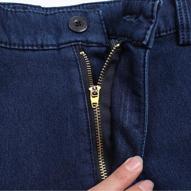 Winter Mens Thick Warm Jeans Classic Fleece Male Denim Pants Cotton Blue Black Quality Long Trousers for Men Brand Jeans Size 42 4