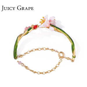 Image 2 - Juicy Grape Enamel Glaze chic bracelet female personality cold wind style bracelet adjustable girls gifts