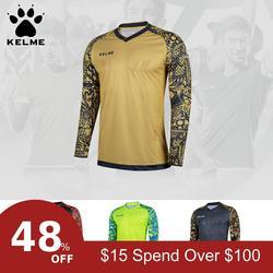 KELME Tops Soccer Goalkeeper Clothing Children Soccer Jerseys Kids Football Survetement Training Doorkeepers Jersey K080C