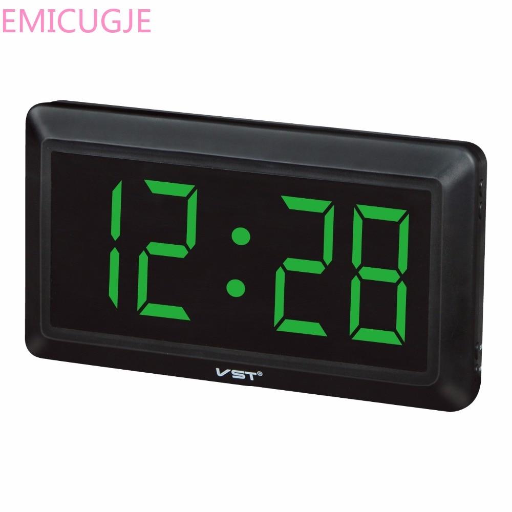 2017 13 inch Large Display led wall Clock Led digital table Clock Morden New Ac Power Digital Desktop Clocks With US/EU plug