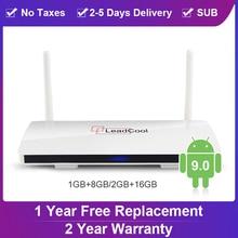 Leadcool TV BOX Android 9.0 Almogic S905W Quad-Core Full HD 2.4G WIFI TV BOX 4K Media Player Smart TV Set-Top Box Leadcool