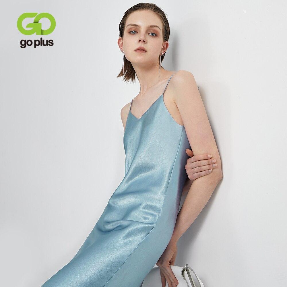 Женское атласное платье на бретельках GOPLUS, сексуальное летнее платье с открытой спиной 2020, Ropa Mujer Sukienki Letnie Robe Femme Vestidos Платья      АлиЭкспресс