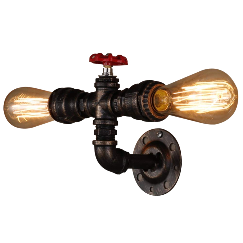 Vintage Wall Lamp Industrial Lamp Retro Applique For Champagne House Coffee Loft Kitchen Living Room And Hotel Room (Bulbs Not I