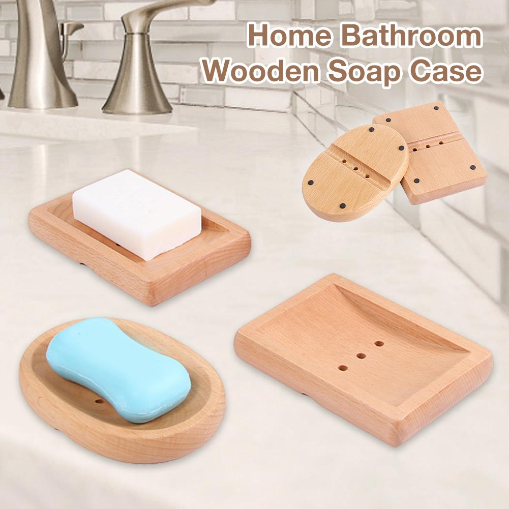 Portable Soap Dishes Creative Simple Wooden Manual Drain Soap Box Bathroom Bathroom Japanese Style Soap Soap Box