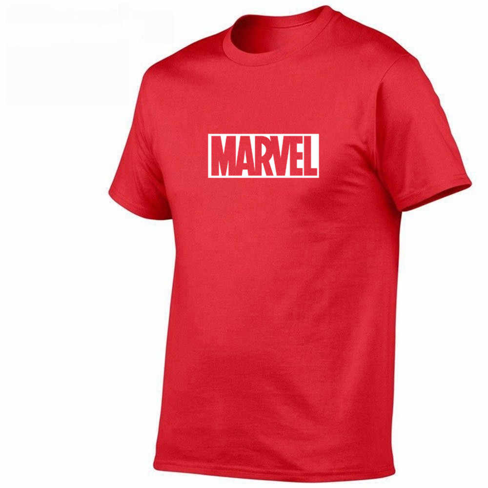 2019 yaz yeni moda T Shirt erkek pamuklu t-shirt Tee kısa kollu yüksek kaliteli erkek gömlek TOPS donanma baskı MARVEL