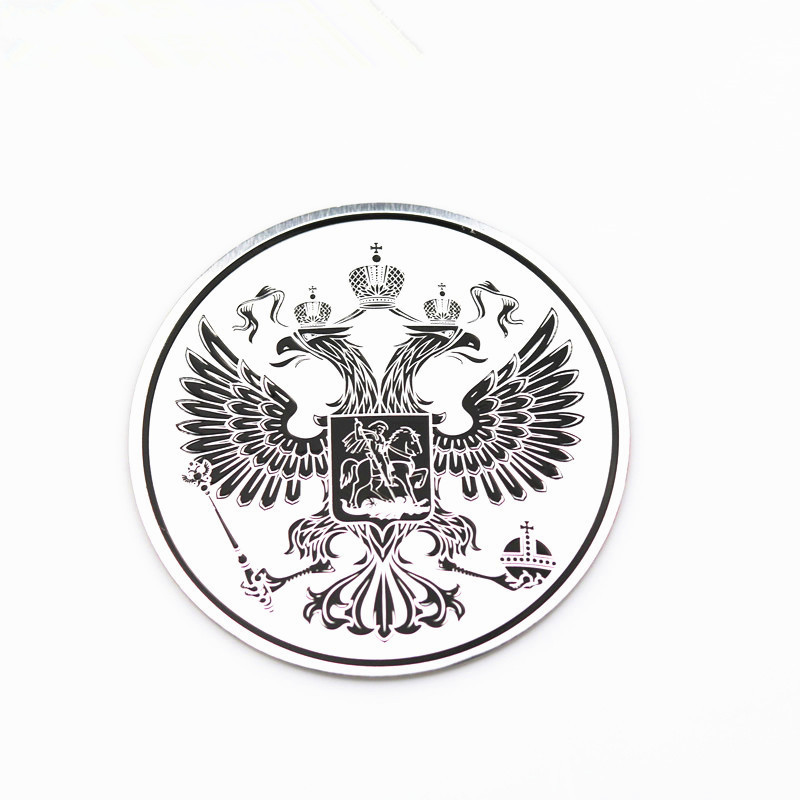 3D Car Aluminum Coat Of Arms Of Russia Car Body Metal Sticker Russian Eagle Decoration For Golf Kia Renault Vw Hyundai Chevrolet