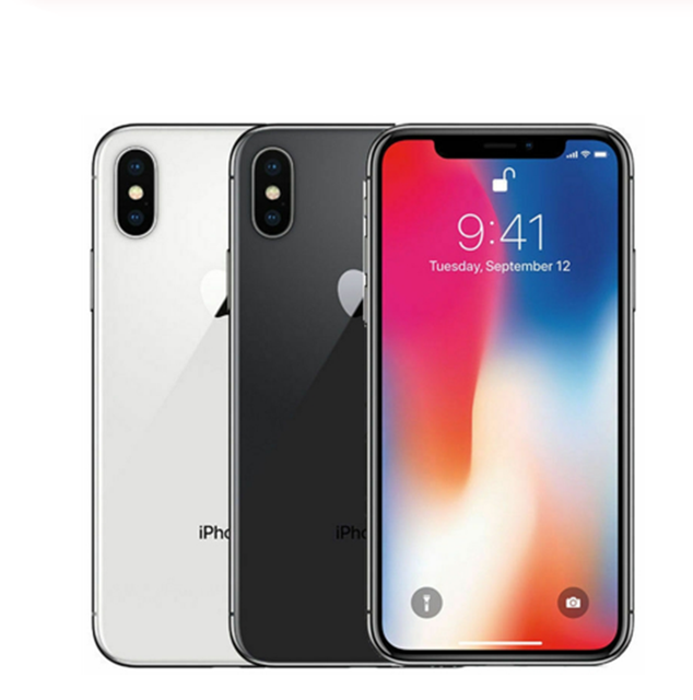 Apple iPhone X Unlocked Face ID LTE 5.8 inch Hexa Core IOS  RAM 3GB ROM 64/ 256GB Fingerprint