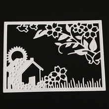 YINISE Metal Cutting Dies For Scrapbooking Stencils  Flower House DIY Album Cards Decoration Embossing Folder Die Cuts Tools