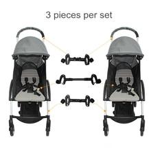 תינוק אביזרי 2 עגלת מחבר עגלת אביזרי מחבר עבור 2 עגלות לפעוטות אבזר