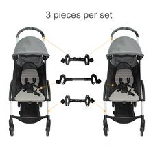 Accessoires pour poussette de bébé, connecteur pour 2 poussettes, connecteur pour 2 poussettes