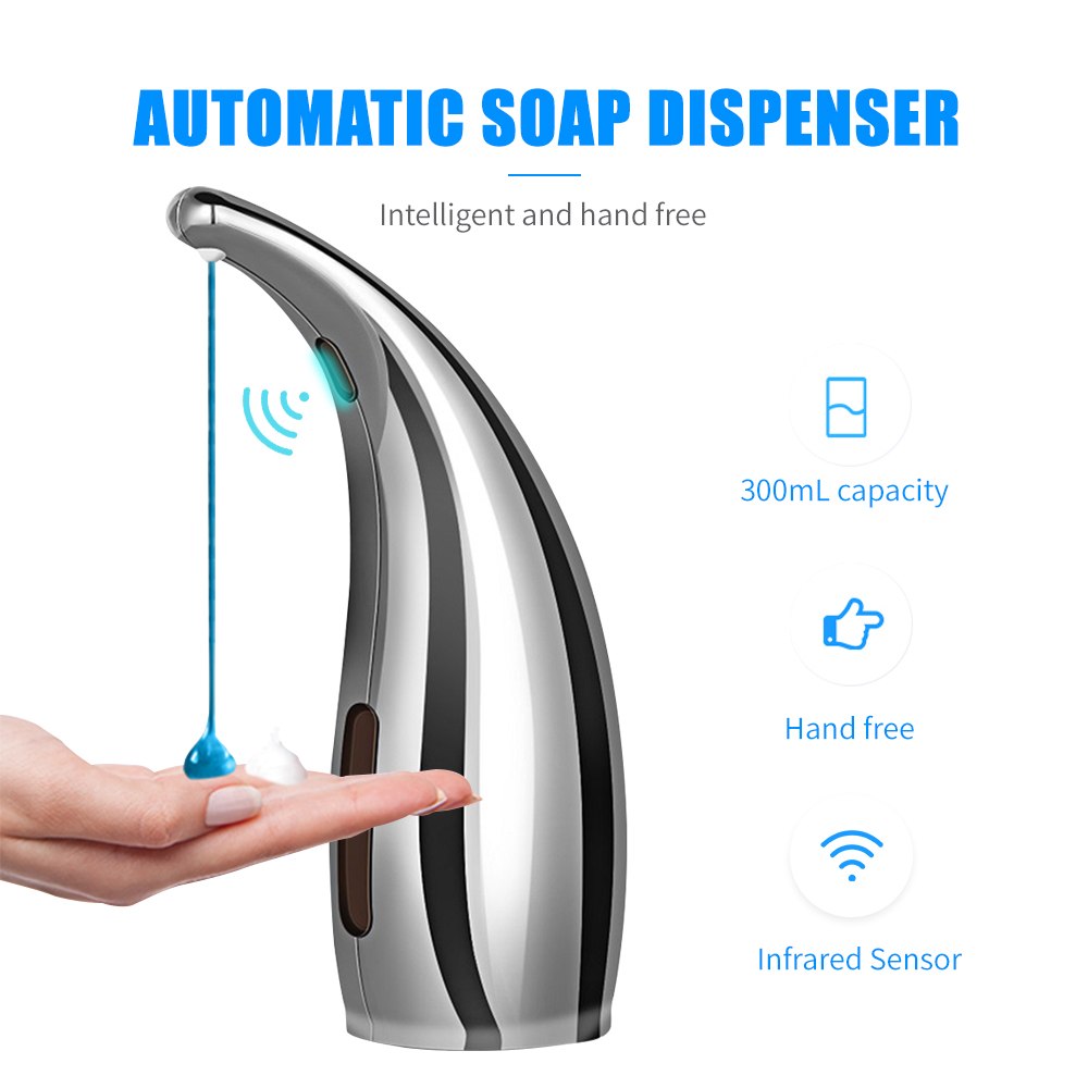 Automatic and Waterproof Soap Dispensers with Infrared Smart Sensor and Adjustable Soap Quantity for Home Office and Hotels 11