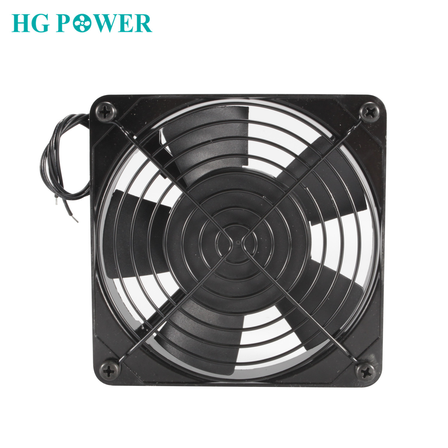 Black Metal Cooling Fan 220V 110V AC Fan CPU Cooler Air Extractor Home Exhaust Fan For Kitchen Bathroom Ventilation 120x120x25mm