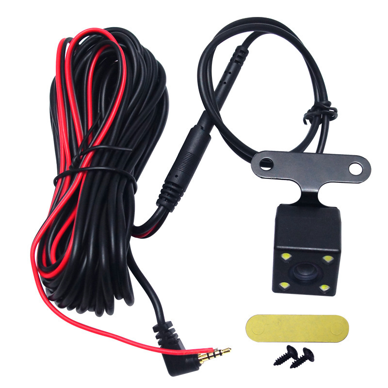Car Rear View Car Mounted 4 Lights Tachograph Lengthened Cable Reverse Image High-definition With Numbers Analog Camera