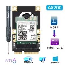 Ax200-Wifi-Card Windows10 Bluetooth Mini pci-E Intel 6-Adapter Wi-Fi Wireless 2974mbps