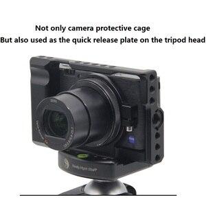 Image 2 - עבור Sony RX100M3/RX100M4/RX100M5 מצלמה כלוב עבור Sony RX100 III/IV/V M3/M4 /M5 Pro DSLR מצלמה כלוב מצלמה Rig קר נעל