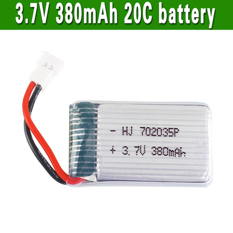 <font><b>3.7V</b></font> <font><b>380mAh</b></font> 20C <font><b>Lipo</b></font> <font><b>Battery</b></font> for H107 F47 F180 Quadcopter RC Helicopter Accs Spare Parts image