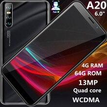 A20 Global Versie Quad Core Smartphones 4 Gram 64G Rom 6.0