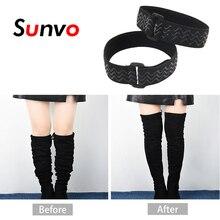 Sunvo, женская обувь, шнурки для ботинок, ремень, удерживающий свободные ботиночки, невидимые, анти-осенние, эластичные, регулируемые шнурки, аксессуары для обуви