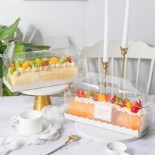 Cake-Box Packaging Swiss-Roll Birthday Transparent Wholesale Handmade Gift Wedding Stobag