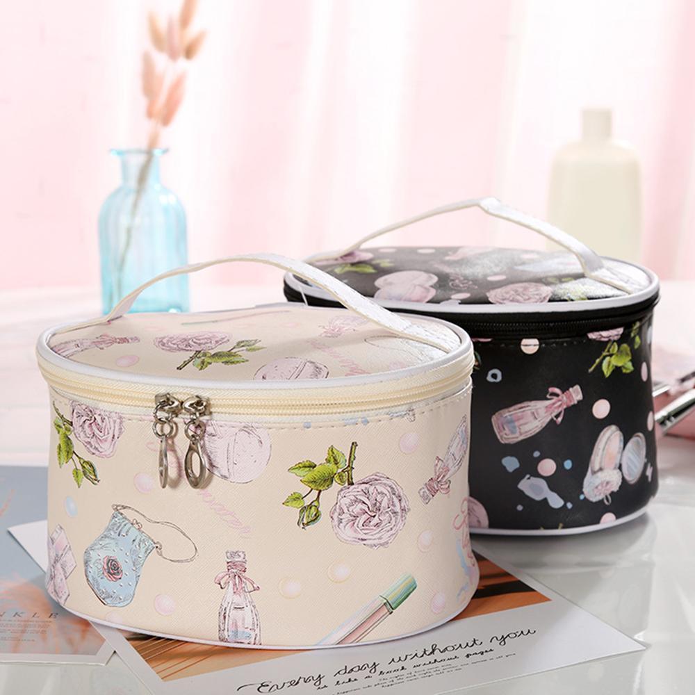 Fashion Letter Makeup Bag Multifunction Lady Square Travel Tote Large Capacity Convenient Printing Waterproof Makeup Washing Bag