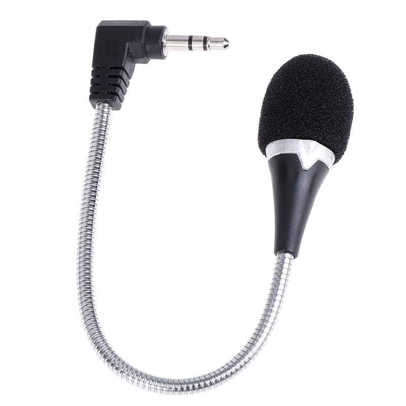 New 3.5mm Flexible Mini Microphone Mic for Laptop Notebook PC Podcast Skype Chat
